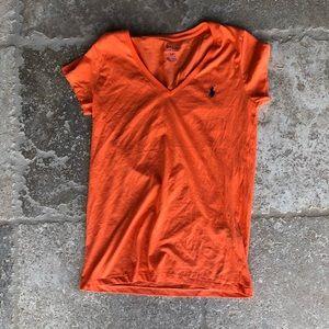 Ralph Lauren Polo Orange T-shirt Size Small